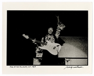 Jimi Hendrix 1968 Fillmore West Original Baron Wolman Signed & Stamped Photograph