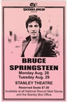"Bruce Springsteen ""Darkness on the Edge of Town"" Original 1978 Concert Poster Signed by Poster Artist"
