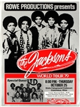 The Jacksons Featuring Michael Jackson Original 1979 World Tour Concert Poster