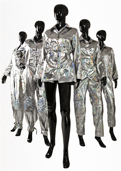 "Spice Girls ""Move Over"" Istanbul First Ever Live Concert Stage Worn Custom Silver Space Suits"