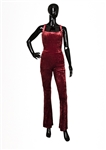 Spice Girl Geri Halliwell 1998 Spiceworld Tour Stage Worn Red Velour Jumpsuit
