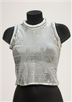 Spice Girl Melanie C  Spiceworld Tour Wembley Stage Worn Custom White Futuristic Top