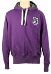 "Ed Sheeran Owned & Worn Canterbury of New Zealand Purple ""Badge"" Hoodie Sweatshirt"