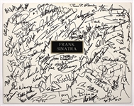 Frank Sinatra Golf Outing Incredible Signed Poster 60+ Sports/Celebrities Signatures (Jack Lemmon, Smokey Robinson, Vida Blue, Lee Majors, Pat Boone, Bruce Jenner) JSA Guarantee