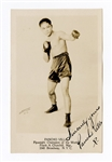 Pancho Villa (Francisco Guilledo) d. 1925 Flyweight Champion Exceptional Signed RPPC JSA LOA