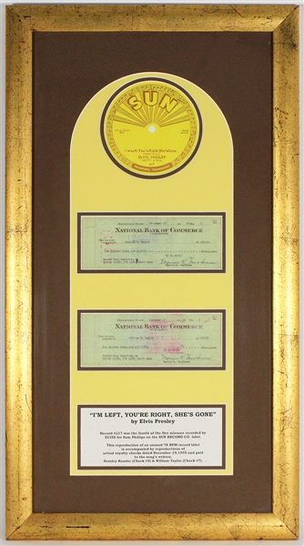 "Elvis Presley ""Im Left, Youre Right"" Sun Records Reproduction Display"