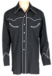 Bob Dylan Owned & Worn Nudies Rodeo Pinstripe Western Shirt