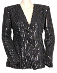 Beyoncé Jay-Z OTR II World Tour Worn Custom Black Sequin Jacket