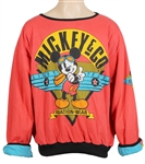 "Chris Brown ""Leave Broke"" Music Video Worn Mickey Mouse Reversible Sweatshirt"