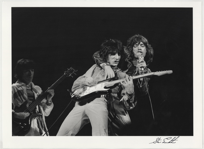 The Rolling Stones Original Steve Emberton Signed Photograph