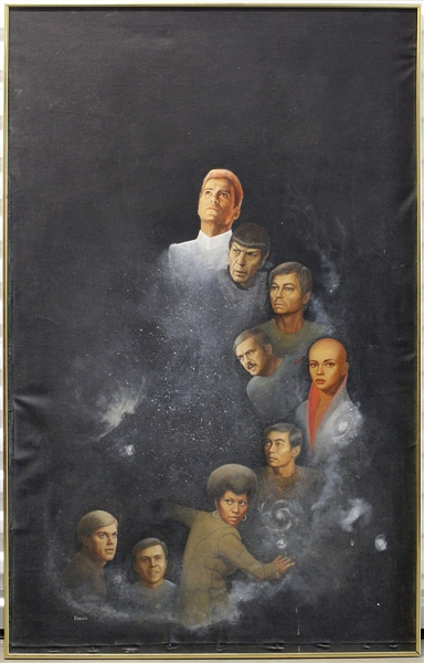 Star Trek Original Painting Signed by Kabrin