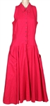 Stevie Nicks Owned & Worn Red Sleeveless Dress