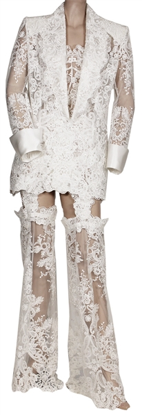 "Beyoncé ""On The Run Tour II"" Stage Worn Iconic Custom White Lace Outfit"
