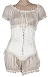 "Madonna ""MDNA Skincare"" Promotion and Commercial Worn Custom White Corset and Bloomers"