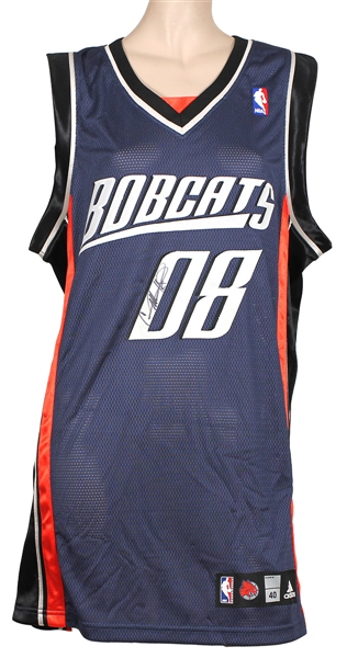 Carrie Underwood Stage Worn and Signed Charlotte Bobcats Basketball Jersey