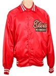 "Elvis Presley Worn ""Elvis In Concert"" Red TCB  Tour Jacket"