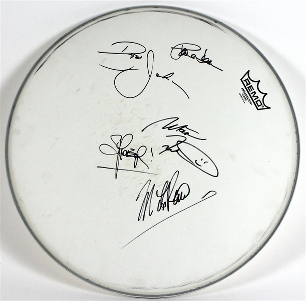 Loverboy Signed Remo Drum Head