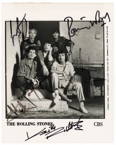 Rolling Stones Signed Photograph JSA Authenticated