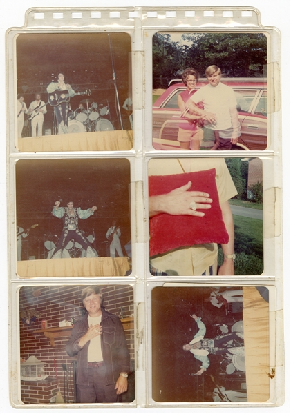 Elvis Presley Mid-1970s Original Concert Archive With Original Stage Snapshot Photographs