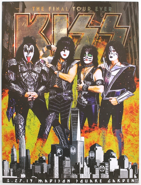 KISS Limited Edition (349/350) Madison Square Garden Final Tour Ever Original Poster