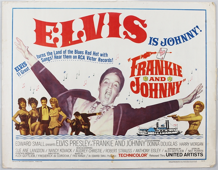 "Elvis Presley ""Frankie and Johnny"" Original Half-Sheet Movie Poster"
