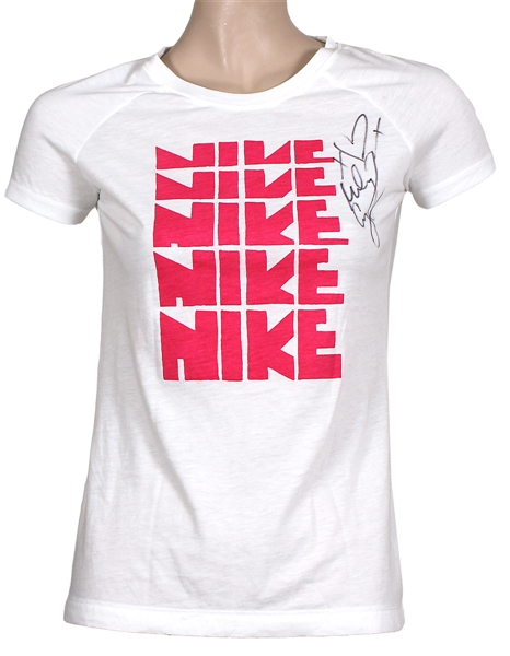 "Miley Cyrus ""Miley and Mandy Show"" YouTube Video Show Worn and Signed Nike T-Shirt"