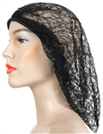 Stevie Nicks Worn Black Lace Beret