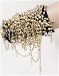 "Beyoncé ""Haunted"" Music Video Worn Elaborate Faux Pearl Cuff Bracelet"