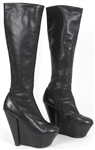 "Beyoncé ""Giant Magazine"" Photo Shoot Worn Black Knee-High Platform Boots"