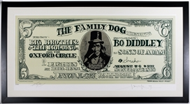 "Big Brother & The Holding Company Original Avalon Ballroom ""Dollar Bill"" Over-Sized Concert Lithograph Signed by Kelley & Mouse"