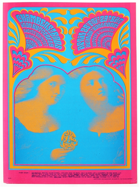 Chambers Brothers Original 1967 Avalon Ballroom Concert Poster