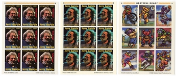 Grateful Dead Jerry Garcia Set of Limited Edition Commemorative Stamps - Tanzania
