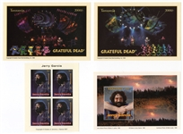 Grateful Deads Jerry Garcia Set of Limited Edition Commemorative Stamps - Tanzania