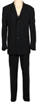 "George Michael""25 Live World Tour"" Stage Worn Giorgio  Armani Custom Black Suit"