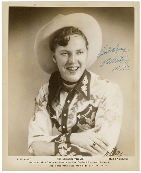 "Bill Haley ""The Rambling Yodeler"" Signed & Inscribed Original Vintage Photograph with JSA LOA"