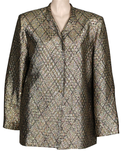 Aretha Franklin Owned & Worn Multi-Colored Gold Jacket