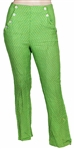Janis Joplin Owned & Worn Vintage Lime Green Pants with Yellow Polka Dots