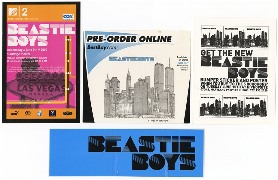 "Beastie Boys Original ""To The Five Boroughs"" 2004 Concert Poster Promotional Archive"