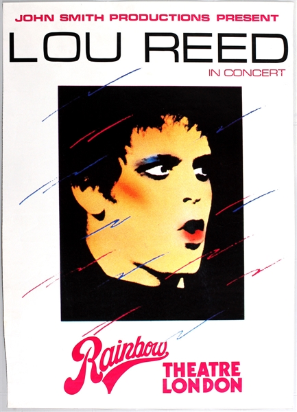 "Lou Reed ""Rainbow Theatre London"" Poster"