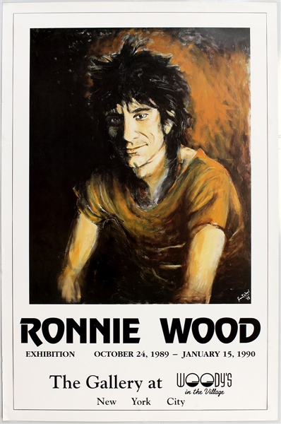 Ronnie Wood 1989 Art Show Original Poster