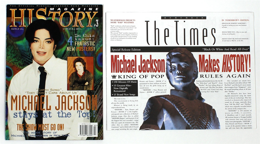 "Michael Jackson Personally Owned ""HIStory"" Magazines"