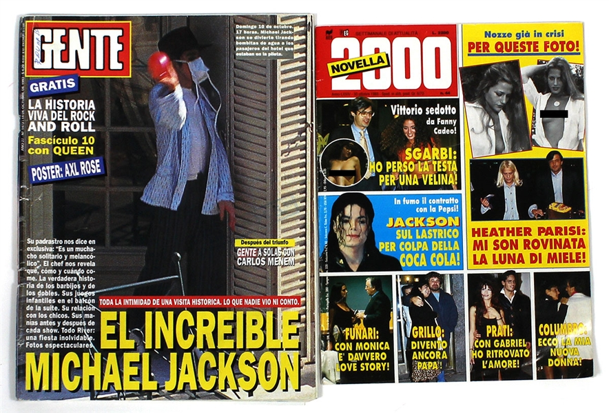 "Michael Jackson Personally Owned  ""Gente"" and ""Novella 2000"" Magazines"