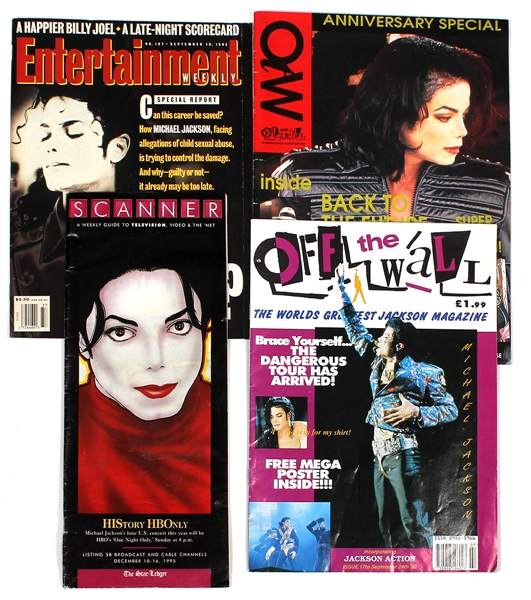 Michael Jackson Personally Owned Circa 1990s Dangerous and HIStory Tour Magazines