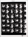 Stevie Nicks Original Neal Preston Signed Over-Sized Giclée Contact Sheet Print