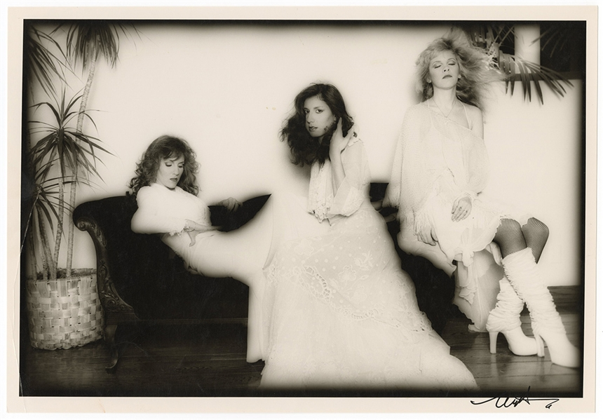 Stevie Nicks Original Neal Preston Twice-Signed Photograph