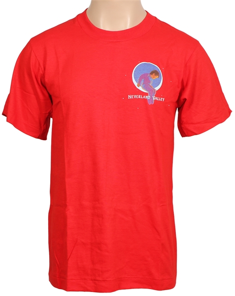 "Michael Jackson Personally Owned ""Neverland Valley"" Red Adult T-Shirt"