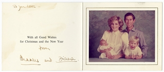 Princess Diana and Prince Charles Signed Christmas Card JSA LOA