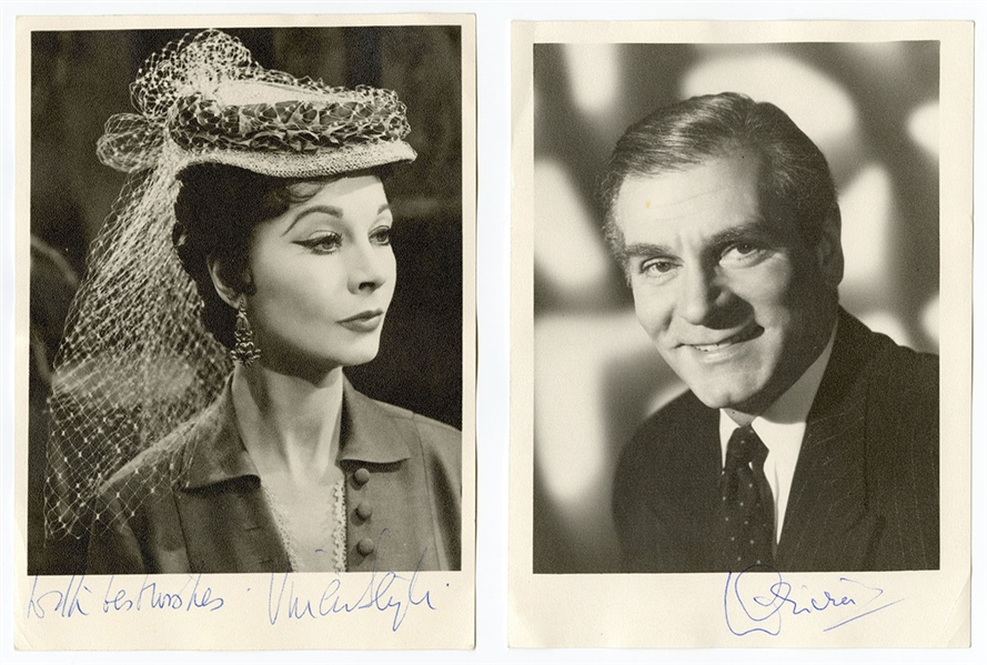 Vivien Leigh and Laurence Olivier Signed Photographs JSA LOA