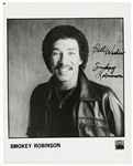 Bo Diddley, Smokey Robinson and Fats Domino Signed Photographs (3) JSA Authentication