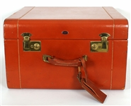James Brown Owned and Used Large Leather Travel Case